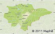 Physical Map of Mopti, lighten