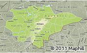 Physical Map of Mopti, semi-desaturated