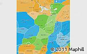 Political Shades 3D Map of Mopti