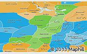 Political Shades Panoramic Map of Mopti