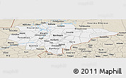 Classic Style Panoramic Map of Mopti