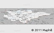 Gray Panoramic Map of Mopti