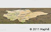 Satellite Panoramic Map of Mopti, darken