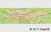 Satellite Panoramic Map of Mopti, physical outside