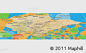 Satellite Panoramic Map of Mopti, political outside