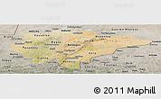 Satellite Panoramic Map of Mopti, semi-desaturated