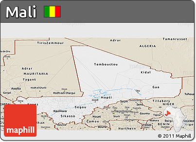 Classic Style Panoramic Map of Mali
