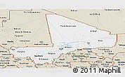Classic Style Panoramic Map of Mali