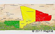Flag Panoramic Map of Mali, satellite outside
