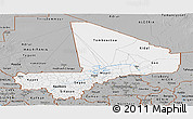 Gray Panoramic Map of Mali
