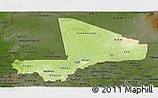 Physical Panoramic Map of Mali, darken