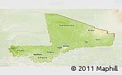 Physical Panoramic Map of Mali, lighten