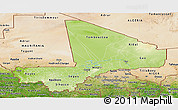 Physical Panoramic Map of Mali, satellite outside