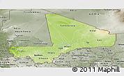 Physical Panoramic Map of Mali, semi-desaturated