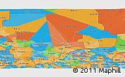 Political Panoramic Map of Mali