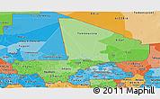 Political Shades Panoramic Map of Mali