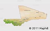 Satellite Panoramic Map of Mali, cropped outside