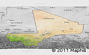 Satellite Panoramic Map of Mali, desaturated