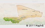 Satellite Panoramic Map of Mali, lighten
