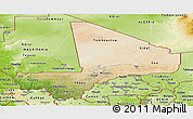 Satellite Panoramic Map of Mali, physical outside