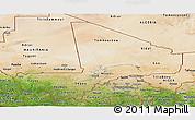 Satellite Panoramic Map of Mali