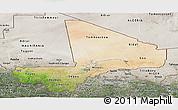 Satellite Panoramic Map of Mali, semi-desaturated