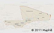 Shaded Relief Panoramic Map of Mali, lighten