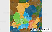 Political Map of Segou, darken