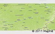 Physical Panoramic Map of Segou