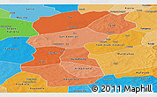 Political Shades Panoramic Map of San