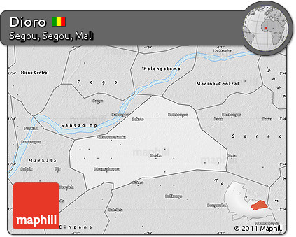 Free Silver Style Map of Dioro