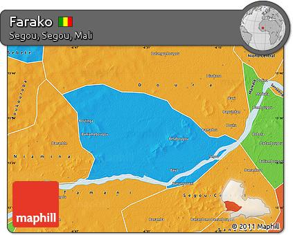 Free Political Map of Farako
