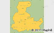 Savanna Style Simple Map of Segou, cropped outside
