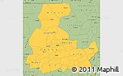 Savanna Style Simple Map of Segou