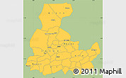 Savanna Style Simple Map of Segou, single color outside