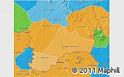 Political Shades 3D Map of Kadiolo