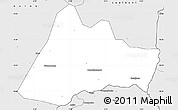 Silver Style Simple Map of Kadiolo-Central