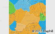Political Shades Map of Kadiolo