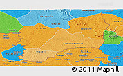 Political Shades Panoramic Map of Kadiolo