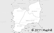 Silver Style Simple Map of Kadiolo