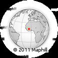 Outline Map of Kolondieba