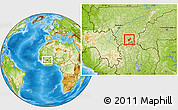 Physical Location Map of Toussekela