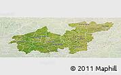 Satellite Panoramic Map of Sikasso, lighten