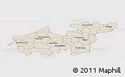 Shaded Relief Panoramic Map of Sikasso, cropped outside