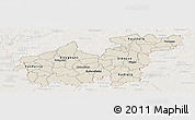 Shaded Relief Panoramic Map of Sikasso, lighten