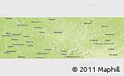 Physical Panoramic Map of Nkourala