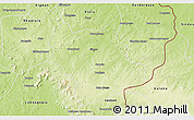 Physical 3D Map of Sikasso-Central