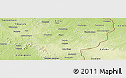 Physical Panoramic Map of Sikasso-Central