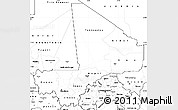 Blank Simple Map of Mali