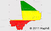 Flag Simple Map of Mali, flag rotated
